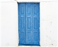 Click Props Vinyl with Print Blue Villa Door 3.00 x 2.44M