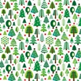 Click Props Background Vinyl with Print Christmas Trees 1.52 x 1.52M