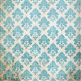 Click Props Background Vinyl with Print Damask Distressed Blue 1.52 x 1.52M