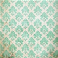 Click Props Background Vinyl with Print Damask Distressed Greem 1.52 x 1.52M