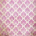Click Props Background Vinyl with Print Damask Distressed Pink 1.52 x 1.52M