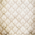 Click Props Background Vinyl with Print Damask Distressed White 1.52 x 1.52M