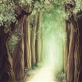 Click Props Background Vinyl with Print Fantasy Forest 1.52 x 1.52M