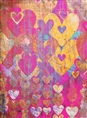 Click Props Background Vinyl with Print Hearts Golds 2.13 x 2.90M