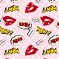 Click Props Background Vinyl with Print Lips Pink 1.52 x 1.52M