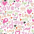 Click Props Background Vinyl with Print Love & Kisses 1.52 x 1.52M