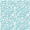 Click Props Background Vinyl with Print Snowflake Blue 1.52 x 1.52M