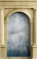Click Props Background Vinyl with Print Roman Arch Blue 1.52 x 2.44M