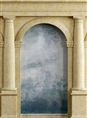 Click Props Background Vinyl with Print Roman Arch Blue 2.13 x 2.90M