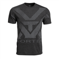 Vortex Charcoal Heather Oversize Logo T-shirt Size L
