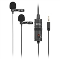 Dual Lavalier microphone for  Smartphone, DSLR, Camcorders, PC