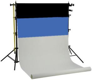 f Falcon Eyes Background System SPK-3 with 3 Rolls Black/White/Blue 1.35x11 m