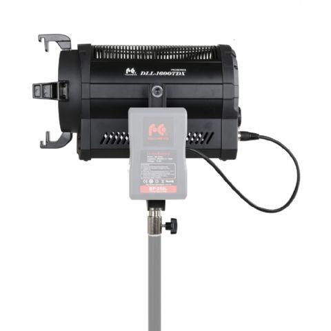 falcon eyes bi color led spot lamp dimmable dll 1600tdx on 230v or battery. Black Bedroom Furniture Sets. Home Design Ideas