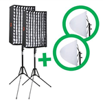 f Falcon Eyes Flexibel LED Panel RX-12TD Set 2