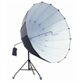 StudioKing Jumbo Umbrella + Light Stand UBJ22 Black/Silver 220 cm