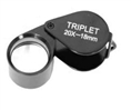 Jewelry Magnifier Triplet 20x 18mm