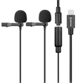 Boya Dual Clip-on Lavalier Microphone BY-M2D for iOS