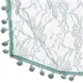 Newborn Bobble Lace Wrap Teal BLWT 50 x 70 cm