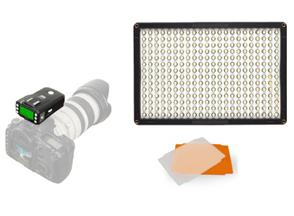 f Pixel LED Lamp Set Dimmable DL-913 with Pixel King Pro voor Canon