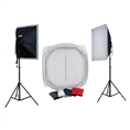 Falcon Eyes Product Photo- Set with 75x75x75 Photo Tent with Lighting 1600W