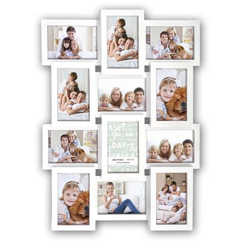 Zep Collage Photo Frame PI01917 White for 12 Photos