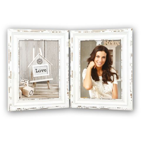 zep wooden double photo frame sy857 saint michel 2x 13x18 cm - Double Photo Frame