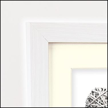 Zep Wooden Photo Frame V32684 Regent 4 White 10x15 / 15x20 cm